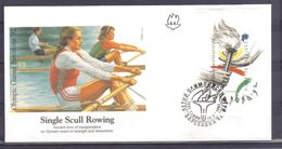 Olympic Games Barcelona '92 Single Scull Rowing FDC Bulgaria Y.T. BF 174 ** - Summer 1992: Barcelona