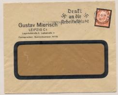 Deutsches Reich - 1934 - 8 Pf Tod Von Hindenburg On Commercial Cover From Leipzig - Duitsland