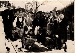 Amusante Photo Originale Déguisement & Adolescents En 1931 - Kurt Schindler & Jolis Déguisements - Légende Au Dos - Anonymous Persons