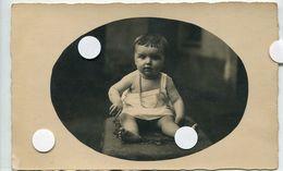Rppc Carte Photo Enfant Kid Bébé Ovale Cadre Portrait - Anonymous Persons