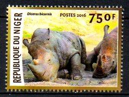 NIGER. Timbre De 2016. Rhinocéros. - Rhinozerosse