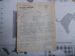 RONCHIN LEZ LILLE LOUIS & ALBERT DESTOOP QUINCAILLERIE COURRIER DU 25/11/1948 UNION DES FAMILLES NOMBT - France