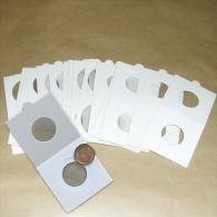 25 Cartons Pour Pièces De Monnaies Hartberger à Agrafer - 35 Mm - Matériel