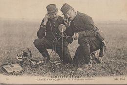 Campagne De 1914. Armée Française - La Téléphonie Militaire - Guerre 1914-18