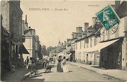 - Allier - Ref- C76- Cosne Sur L Oeil - Cosne D Allier - Grande Rue - Magasins - Attelages - Femmes En Toilette - - France
