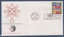 = Institut De Formation De Recherche Des Nations Unies Enveloppe 1er Jour New-York 10.02.69 N°186 Livres D'Instructions - FDC