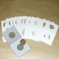 25 Cartons Pour Pièces De Monnaies Hartberger à Agrafer - 25 Mm - Matériel