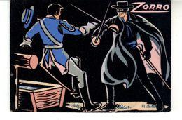 Carte Postale Feutrine  Walt Disney  1965    Zorro - Other