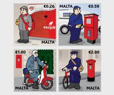 Malta 2017 - Postal Uniforms Stamp Set Mnh - Malta