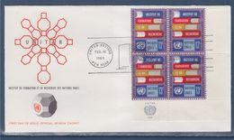 = Institut De Formation De Recherche Des Nations Unies Enveloppe 1er Jour New-York 10.2.69 N°187 X4 Livres Instructions - FDC