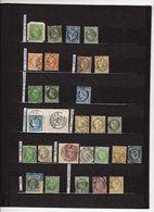 Cpllection Des Cachets à Date Des Bureaux De Quartier De Paris 112 Timbres  Indices Pothion (s. Lettres) = 7400 Eu - Marcophilie (Timbres Détachés)