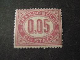 REGNO -1875,  Sass. N. 2, SERVIZIO, Cent, 0,05 Lacca, MNH**, OCCASIONE - 1861-78 Vittorio Emanuele II