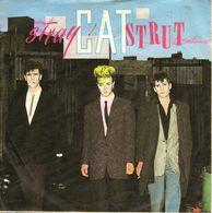 "STRAY CATS "" STRAY CAT STRUT - DRINK THAT BOTTLE DOWN"" 45 TOURS DISQUE VINYL - Vinyl Records"