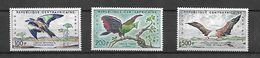 Centrafrique 1960 Poste Aérienne Oiseaux Divers  Cat Yt N° 1, 2,3 N** MNH - Central African Republic