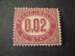 REGNO -1875,  Sass. N. 1, SERVIZIO, Cent, 0,02 Lacca, MNH**, OCCASIONE - Servizi