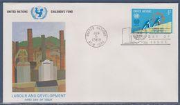 = Cinquantenaire Organisation Internationale Enveloppe 1er Jour New-York 5.6.69 N°193 Symboles Travail Développement - FDC