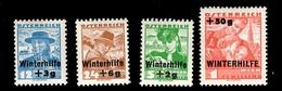 Autriche YT N° 467/470 Neufs ** MNH. TB. A Saisir! - 1918-1945 1st Republic