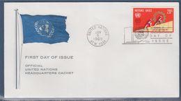 = Cinquantenaire Organisation Internationale Enveloppe 1er Jour New-York 5.6.69 N°194 Symboles Travail Développeme - FDC