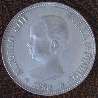 (J) ESPAÑA - SPAIN - Alfonso XIII: 5 Pesetas Plata 1890-18_90 XF (68)  SALE!!!!!!! - [ 1] …-1931 : Reino