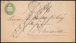 3995/ Entier Postal (Stationery) Suisse (Swiss) Apple 1877 Pour Bouches Du Rhone Marseille - Ganzsachen