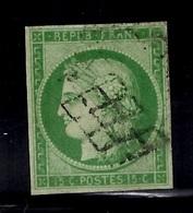 France YT N° 2 Oblitéré. Filets Intacts. Signé Bühler. A Saisir! - 1849-1850 Ceres