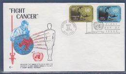 = Lutte Contre Le Cancer 10è Congrès International Enveloppe 1er Jour New-York 22.5.70 N°201 202 Combat Contre Le Cancer - FDC