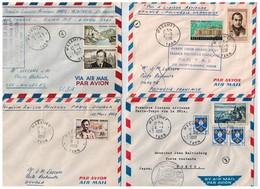 7 Lettres Diverses,  Premiére Liaison Aérienne - Posta Aerea