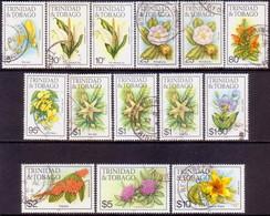 TRINIDAD & TOBAGO 1985-89 SG #686//701 Selection Of 14 Used Stamps Imprint 1985,1987,1988,1989 - Trinidad & Tobago (1962-...)