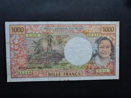 INSTITUT D'ÉMISSION D'OUTRE MER : 1000 FRANCS  CFP  ND  P 2    TTB * - French Pacific Territories (1992-...)