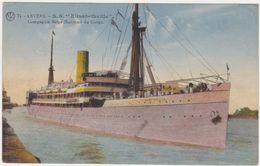 Anvers, Antwerpen, SS Elisabethville, Compagnie Belge Maritime Du Congo. - Paquebote