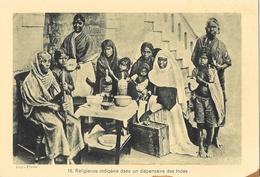Religieuse Indigène Dans Un Dispensaire Des Indes - Oeuvre De La Propagation De La Foi, Carte Non Circulée - Missions