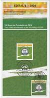 Brasil - Edital / Brochure - FIFA 2004 -100 Years - Brasil