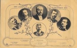 Conflit Européen 1914: Poincaré, Pierre Ier, Georges V, Nicolas II, Albert 1er, Carte E.L.D. Non Circulée - Personnages