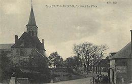 - Allier -ref-C52- Saint Aubin Le Monial - St Aubin Le Monial - La Place - Carte Bon Etat - - Frankrijk