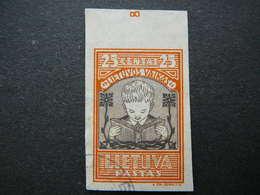 Lietuva Litauen Lituanie Litouwen Lithuania 1933 Lithuanian Child Used # Mi. 367 B - Lithuania