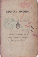 ARGENTINA L'ARGENTINE 1927 FEMENINO FEMALE & HIJO SON GARÇON PASAPORTE PASSPORT REISEPASS PASSAPORTO.-TBE-BLEUP - Documentos Históricos