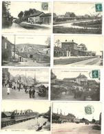 24 CP Gare(s) Avec Train (OURSCAMPS_ETAPLES) Sans(BOHAIN Etc)+RIVECOURT,passage à Niveau_Foire Chevaux_Mineurs LOT N°21 - Cartes Postales