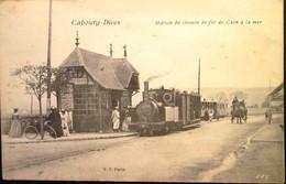 14  CABOURG  DIVES  Station Du Chemein De Fer TRAIN  1918 - Cabourg