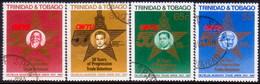 TRINIDAD & TOBAGO 1988 SG #741-44 Compl.set Used Oilfield Trade Union - Trinidad & Tobago (1962-...)