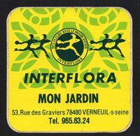 INTERFLORA MON JARDIN 78480 VERNEUIL SUR SEINE - Autocollant  - Ref: 1384 - Stickers