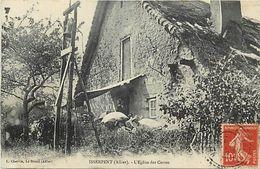- Allier -ref-C42- Isserpent - Eglise Des Corres - Batiments Et Architecture - Carte Bon Etat - - Autres Communes