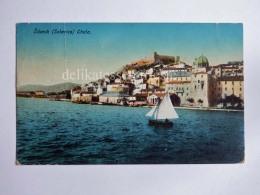 SEBENICO SIBENIK DALMAZIA Croazia Obala Boat AK Old Postcard - Croacia