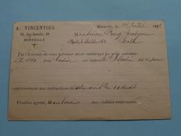 CP > A. VINCENTIUS Marseille (France) > BERLIN ( Berlijn / Allemagne ) Anno 1889 ( Voir Photo SVP ) ! - France