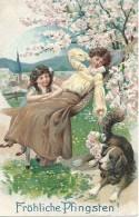 Fröliche Pfingsten - Relief - 1914 - Pfingsten