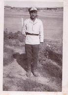 Very Old Real Original Photo - Young Man In Uniform - 9x6.5 Cm - Anonymous Persons