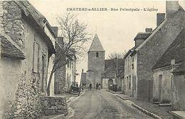 - Allier -ref-C29- Chateau Sur Allier - Rue Principale - Eglise - Carte Bon Etat - - Otros Municipios