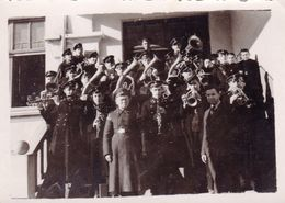 Very Old Real Original Photo - Group Of Young Men Military Brass Band - 8.9x6.3 Cm - Anonymous Persons