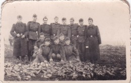Very Old Real Original Photo - Group Of Young Men Soldiers - 9.2x6 Cm - Anonymous Persons