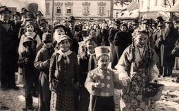 Carte Photo Originale Déguisement & Cavalcade D'enfants à Weyer (67320) Alsace & Bas-Rhin Vers 1950 Carnaval De Shrove - Anonymous Persons