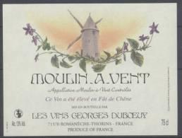 THEME MOULIN étiquette De Vin MOULIN A VENT 7 - VIOLETTE Signé ALBUISSON - Windmills